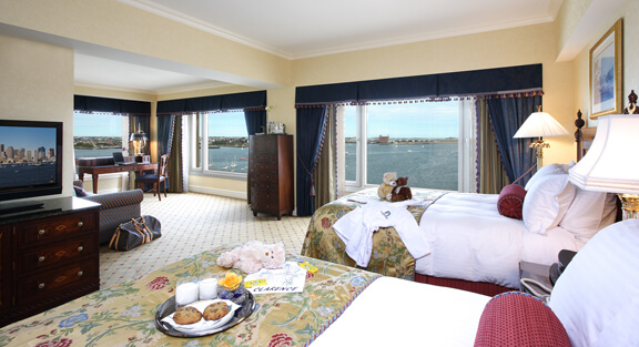 Just try to resist the views from your Boston Harbor Harbor View Deluxe room.
