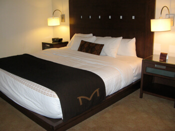 Standard room at the Metterra Hotel on Whyte, Edmonton, Alberta