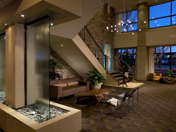 Metterra Hotel lobby, Edmonton, Alberta