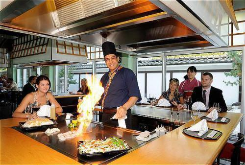 The hotel's restaurant is known for excellent Japanese cuisine