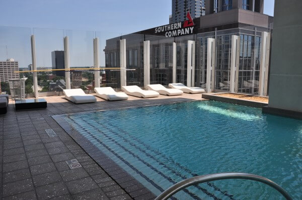 Trendy Luxury H... W Hotel Atlanta Rooftop Pool