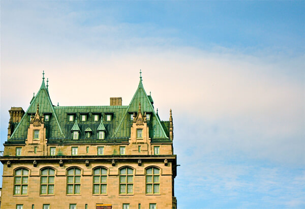 The regal Fort Garry Hotel is a Winnipeg landmark