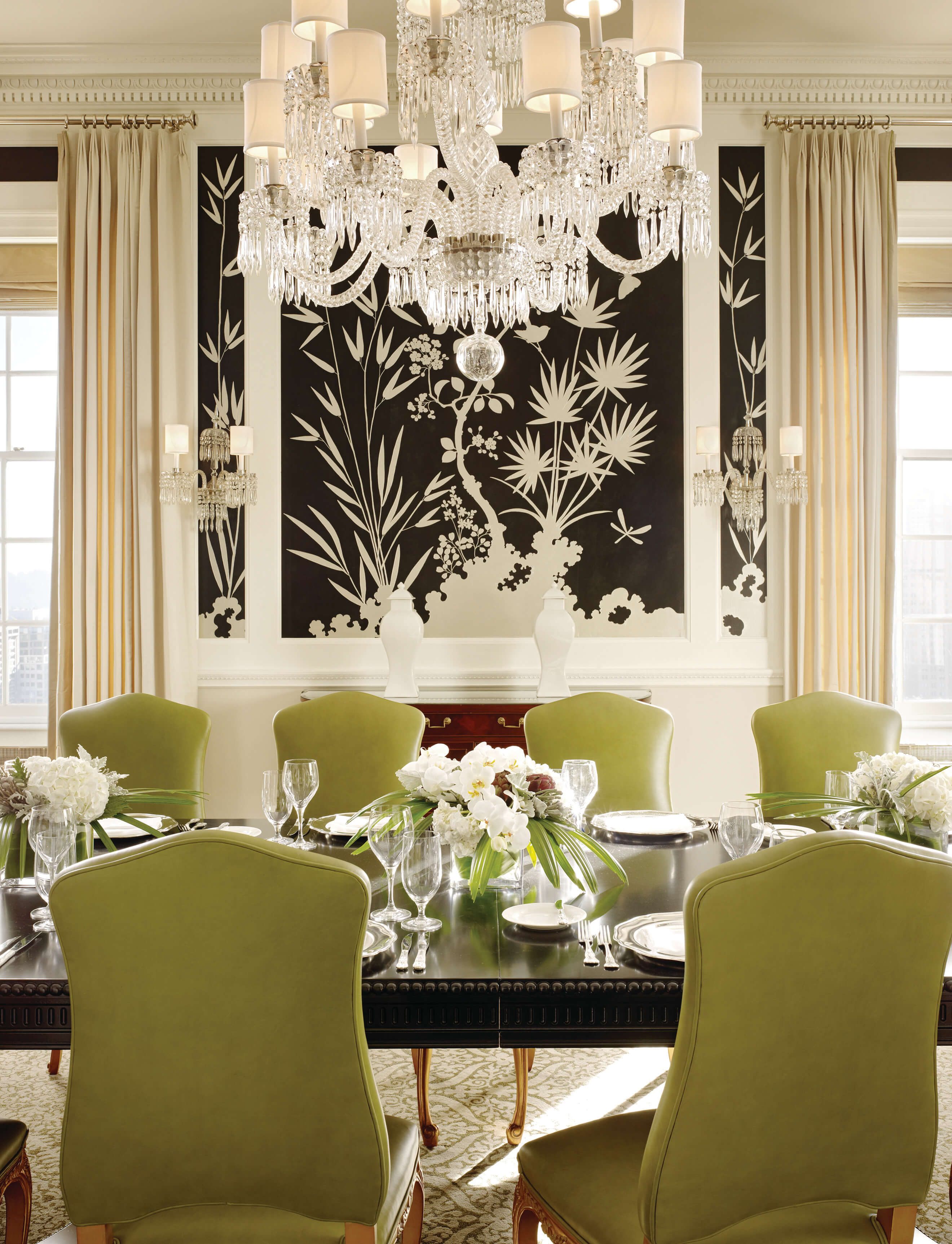 Fairmont san francisco penthouse dining room 1 for Dining room ideas green
