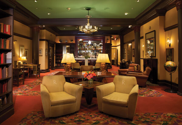 The Library Bar is the heart of Hotel Rex