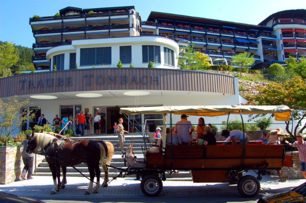 Black Forest wagon tours depart from the Traube Tonbach