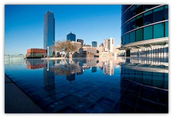view from the pool-site Uptown Terrace at Omni Dallas