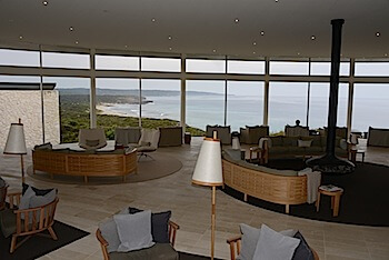 Southern Ocean Lodge living space