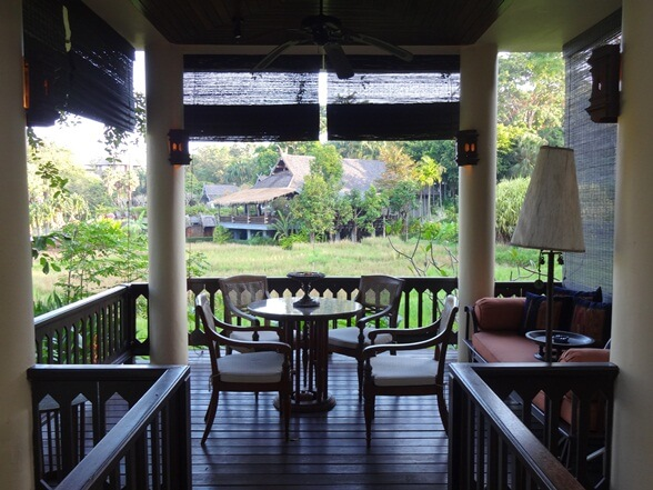 My balcony at Four Seasons Chiang Mai