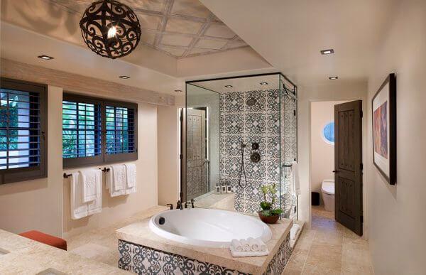 Bathroom, Rancho Valencia Resort, San Diego, California