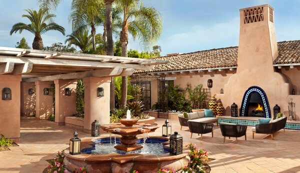 Courtyard, Rancho Valencia Resort, San Diego, California