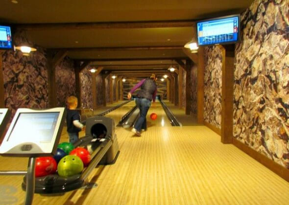 Reserve your bowling party at One Ski Hill Place's two-lane bowling alley.