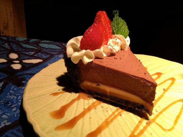 Chocolate pie, Mama's Fish House, Maui, Hawaii