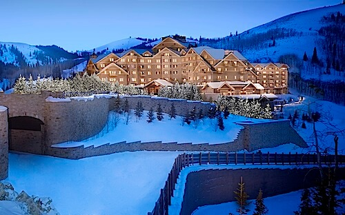 Montage Deer Valley Night Exterior