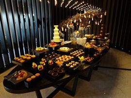 Dessert Table at Pullman Hotel in Dubai