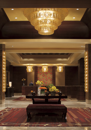 The spacious and spectacular lobby at the Ritz-Carlton Denver
