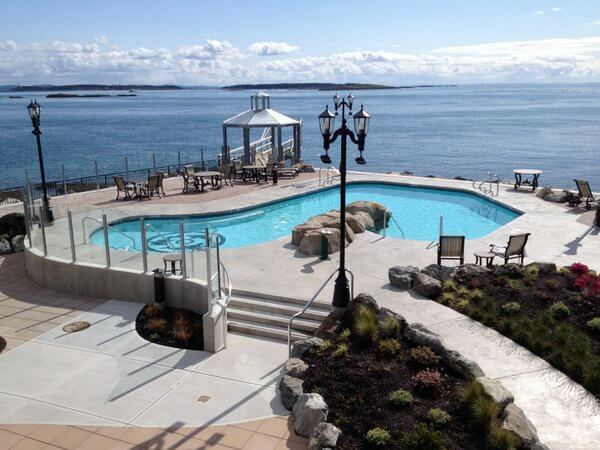 Pool, Oak Bay Beach Hotel, Victoria BC Canada