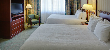 Bedroom of two room suite