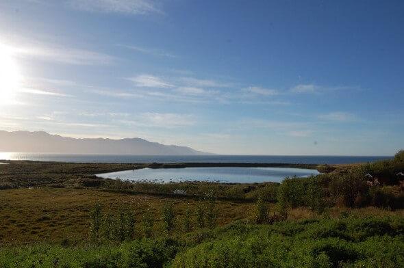 The view of Skjálfandi Bay from Kaldbaks-Kot