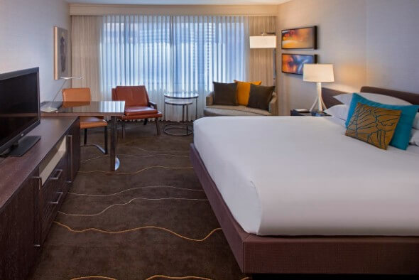 A recently renovated room at the Grand Hyatt Denver