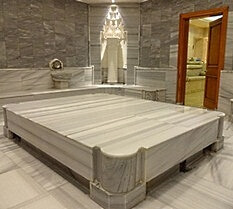 The private hamam in Grand Hyatt Istanbul