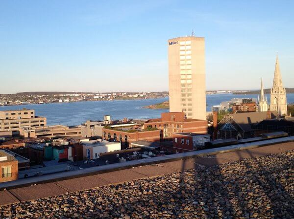 Rooftop views, Cambridge Suites Hotel, Haliifax, Nova Scotia