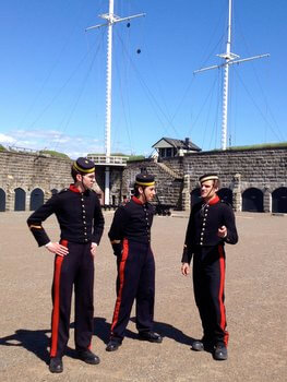 Soldiers at the Citadel National Historic Site, Halifax, Nova Scotia