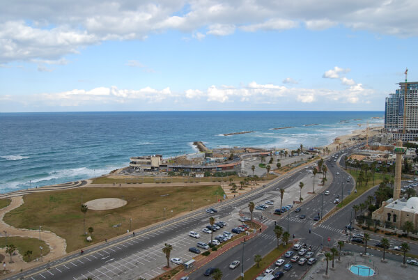 View of the Mediterranean from your Dan Panorama Tel Aviv Hotel