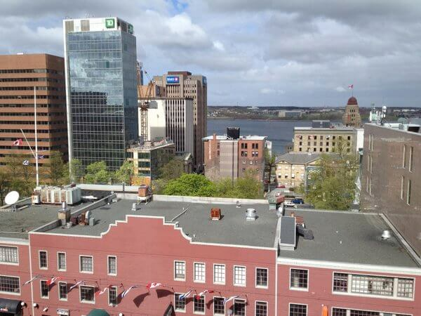 City view, Prince George Hotel, Halifax, Nova Scotia, Canada