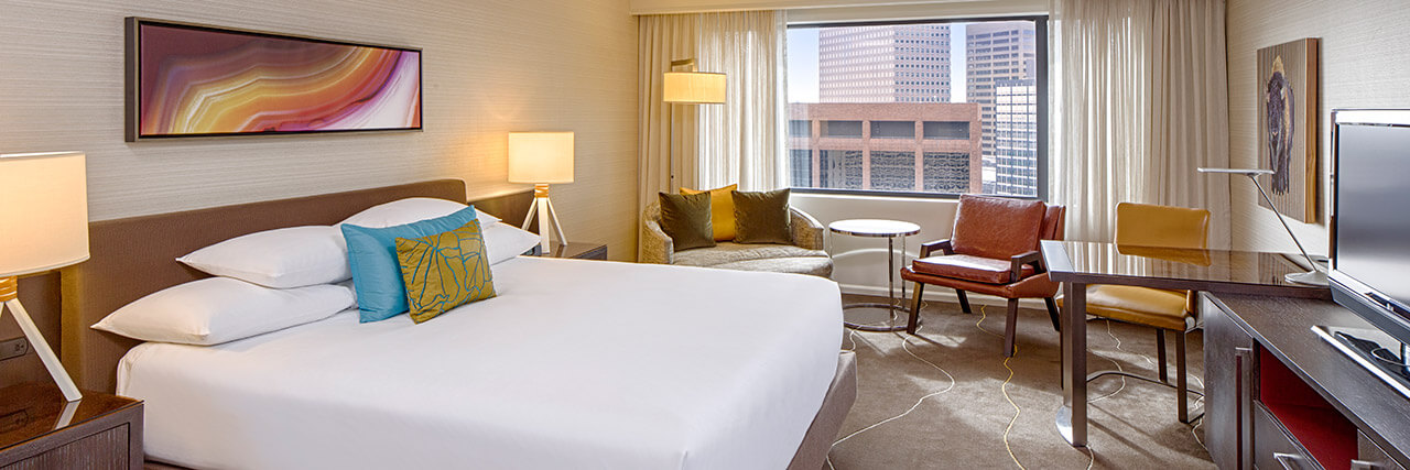 King size accommodations at Grand Hyatt Denver.