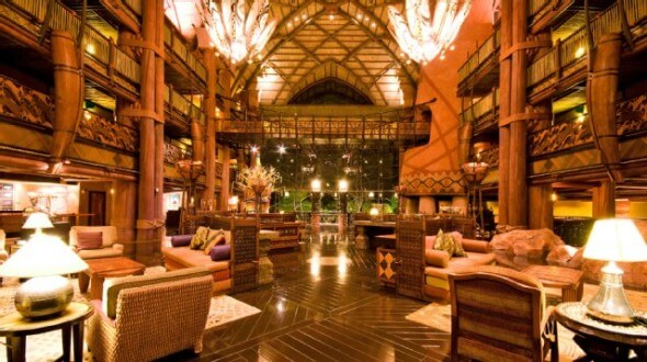 More views of the inspirational lobby of Disney's Animal Kingdom Lodge