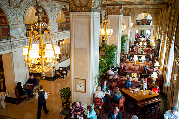 The lobby at The Brown Hotel in Louisville, KY - photo courtesy Michael Ventura