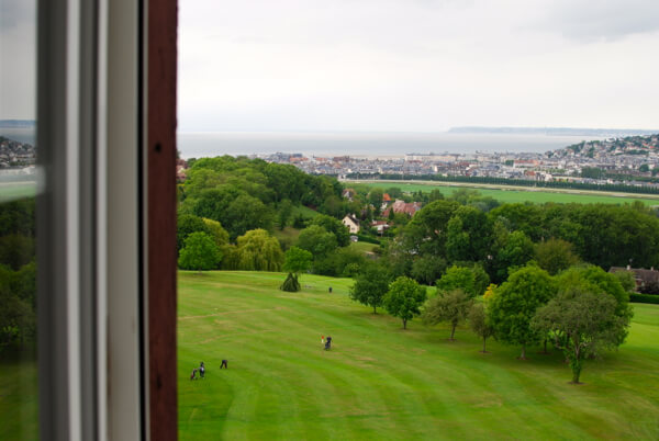 The view from one of the rooms at Hotel du Golf Barriere overlooks the golf course.