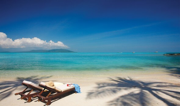 Koh Samui Beach front at Melati Beach Resort & Spa in Thailand.