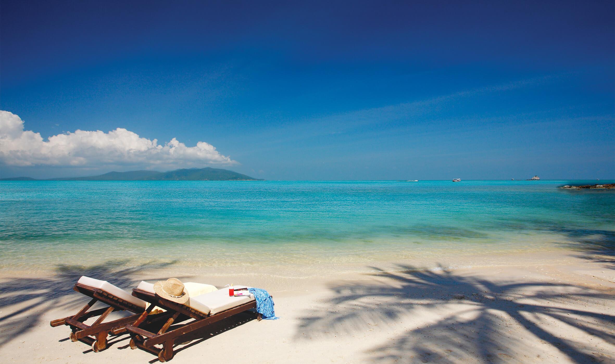 Koh Samui Beach front at Melati Beach Resort & Spa in Thailand.
