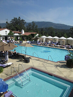 Ojai Valley Inn Herb Garden Pool