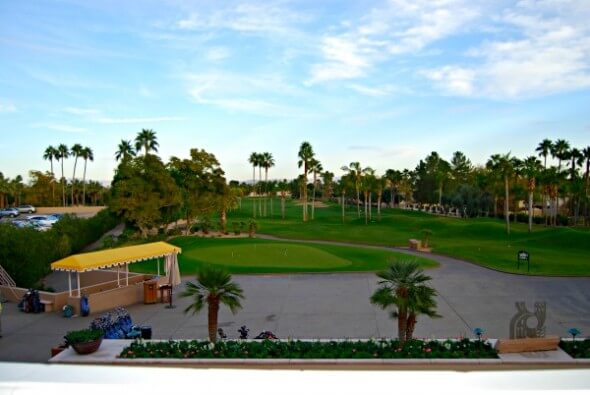 View of the Golf Course from the meeting space at The Phoenician.