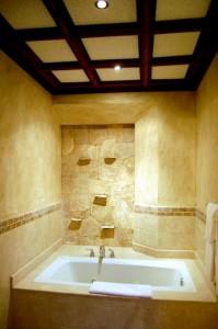 Bathroom in a premium room