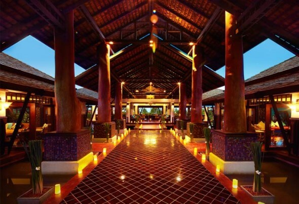 The impressive lobby of the Melati Beach Resort & Spa