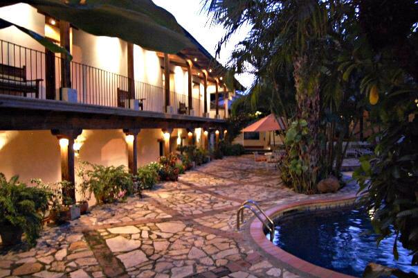 The pool at the Hotel Marina Copan