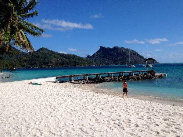 Beach, Maitai Lapita Village, Huahine, French Polynesia