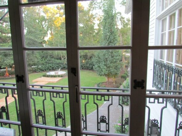 overlooking the courtyard of Annadele's Plantation