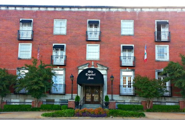 Exterior of  historic Old Capitol Inn, Jackson, Mississippi