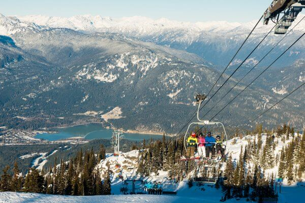 New high speed Crystal Chair, Blackcomb Mountain, Whistler British Columbia Canada