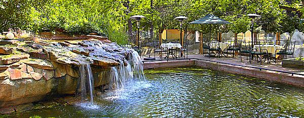 "Millennium Harvest House Boulder ""backyard"" by Boulder Creek & Path"