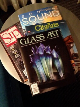 Magazines, Hotel Murano, Tacoma, Washington