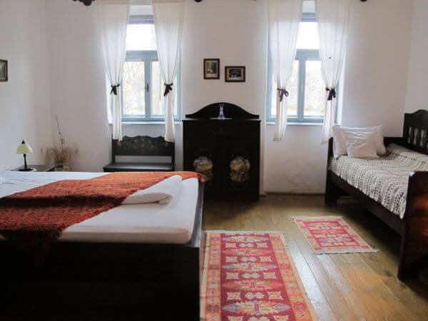 One of the rooms at Casa cu Zorele in the village of Crit in Transylvania