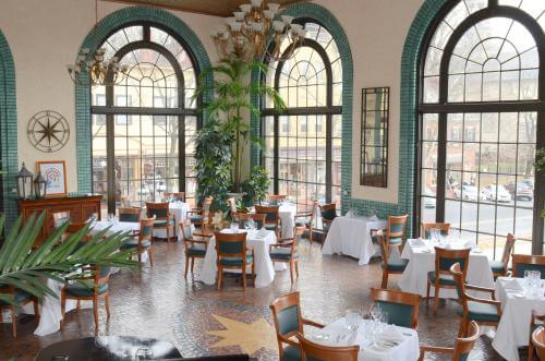 The Historic Bethlehem Hotel--dining room with a view