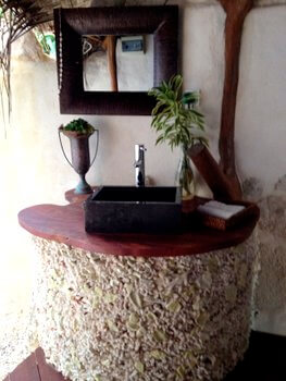 Bathroom, Ninamu Resort, Tikehau, French Polynesia