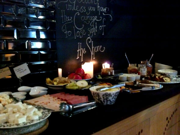Part of the breakfast spread at the Witt