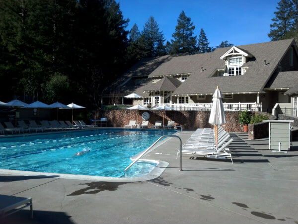 One of two pools at Meadowood